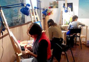 мастер-класс по живописи маслом для взрослых