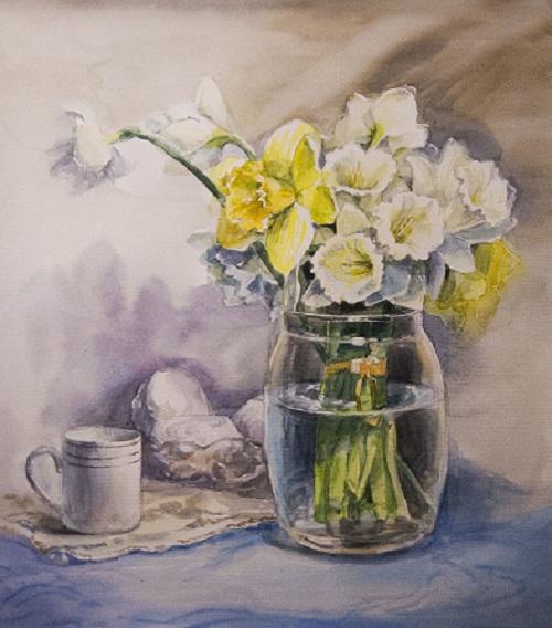 Промальовуємо скляну вазу аквареллю