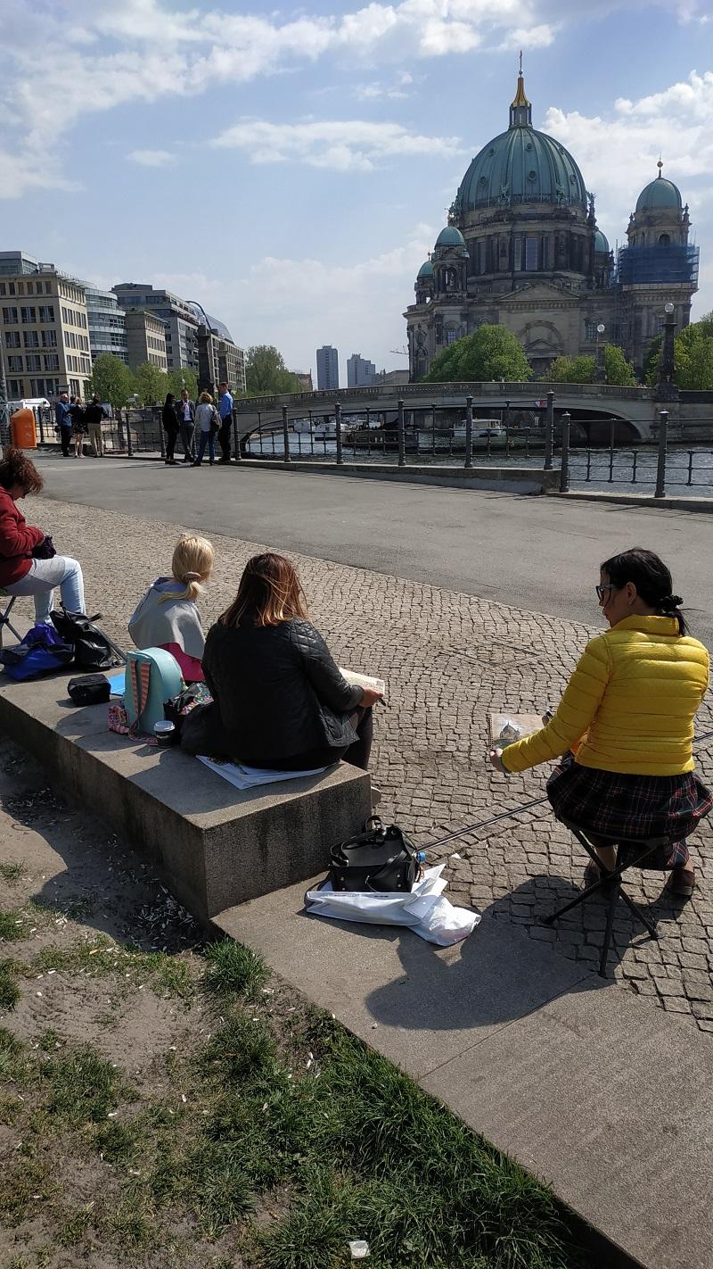 Міський пейзаж. Берлінський собор. У процесі креслення