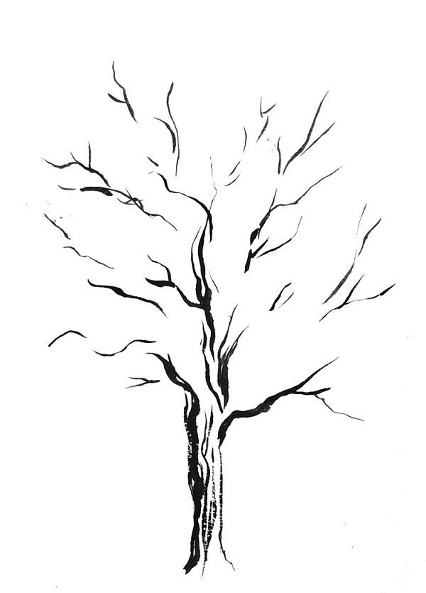Рисунок дерева с использованием линий