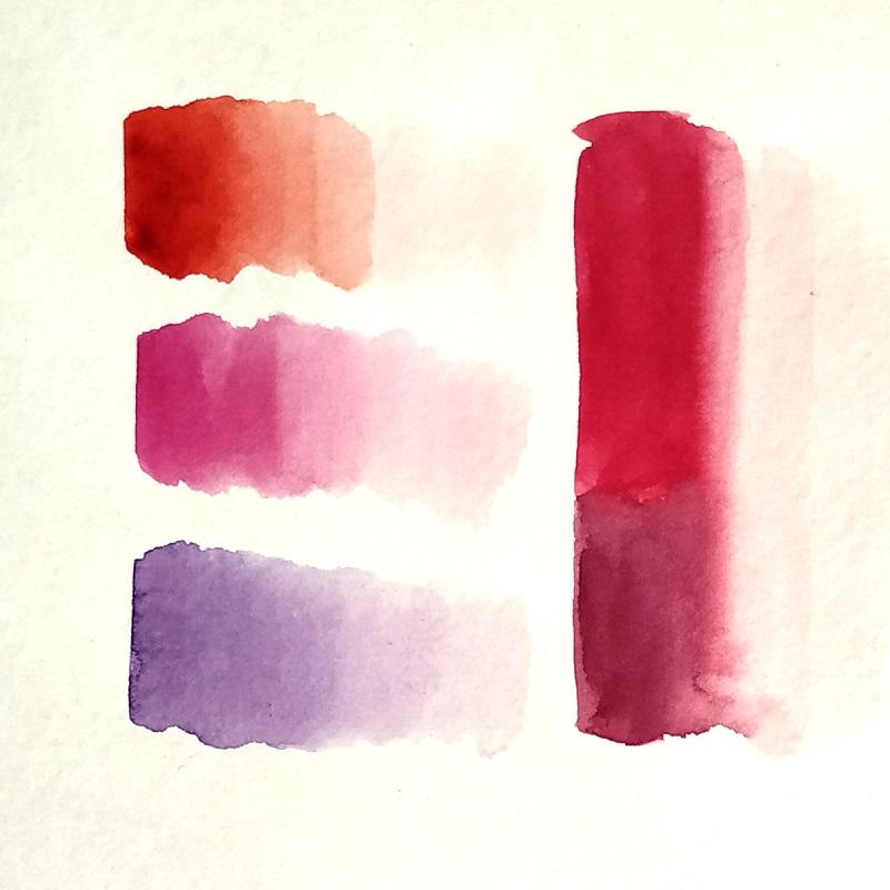 Змішування відтінків червоного і рожевого кольорів